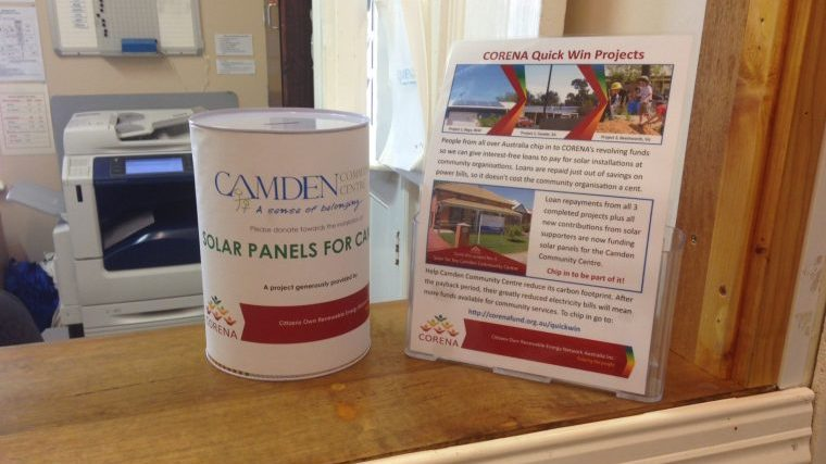 CORENA project on-site donation tin