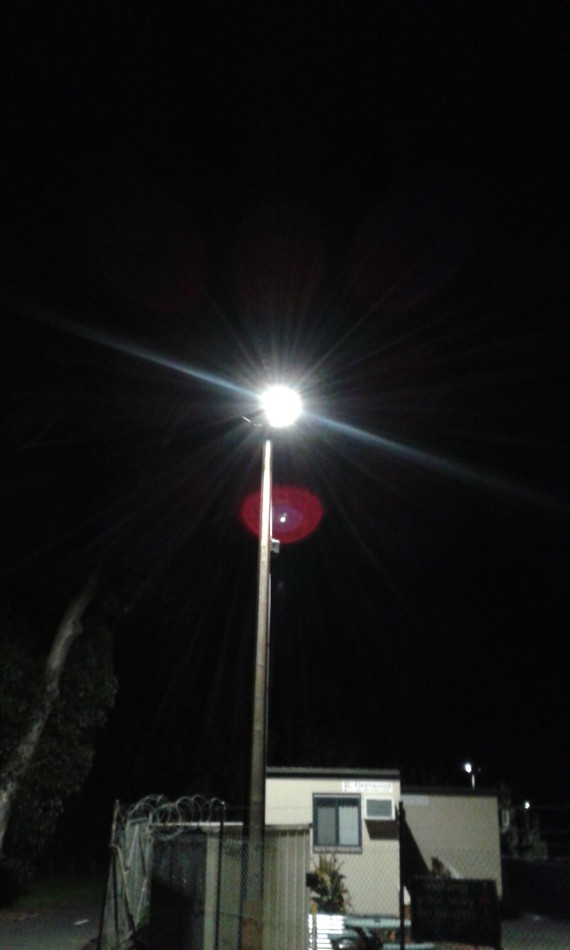 3 of the 5 LED security lights