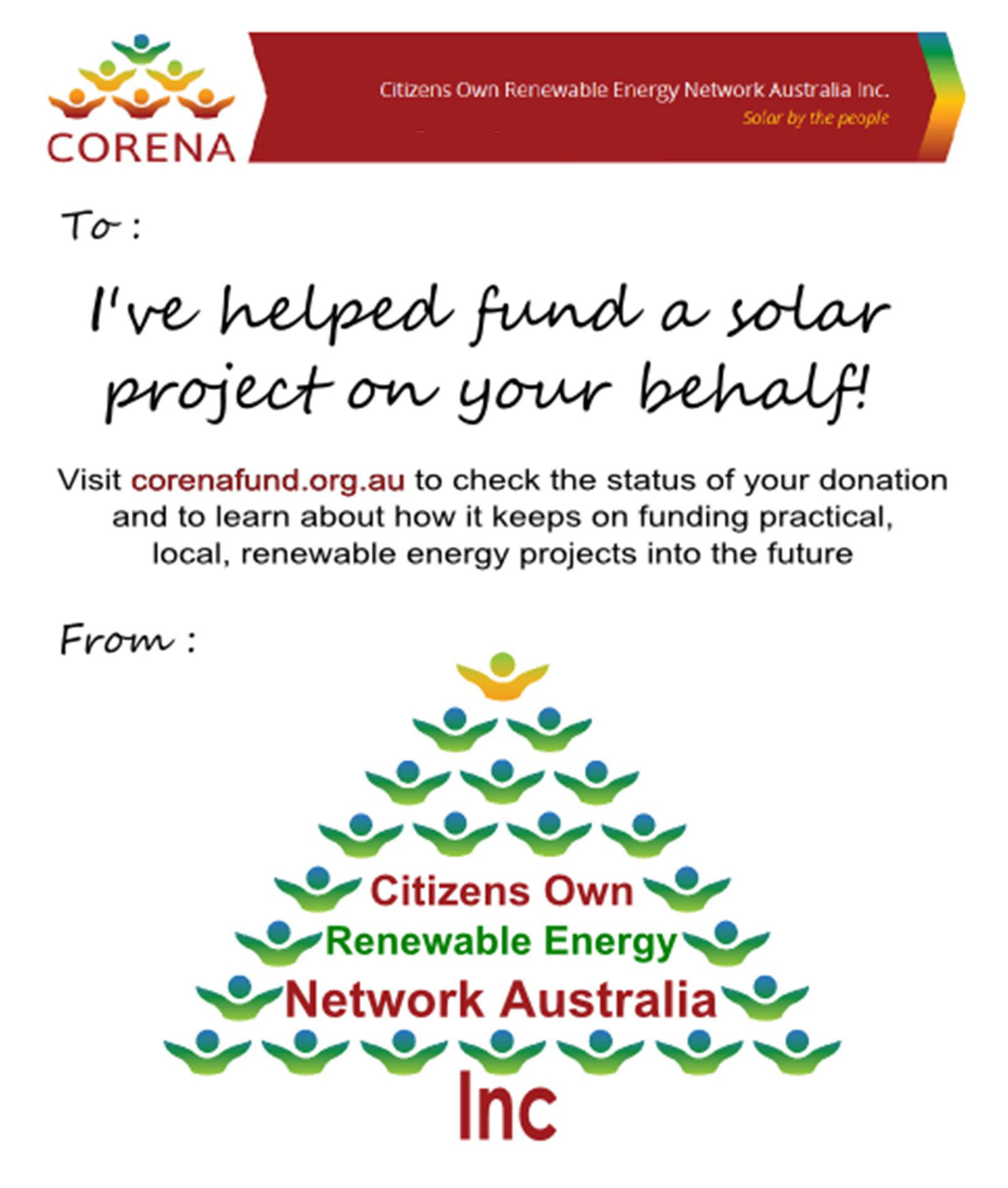 Give the gift of a safer climate | CORENA fund