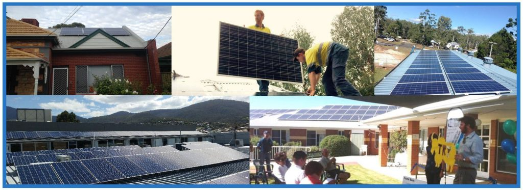 Rooftop solar panels on various CORENA projects