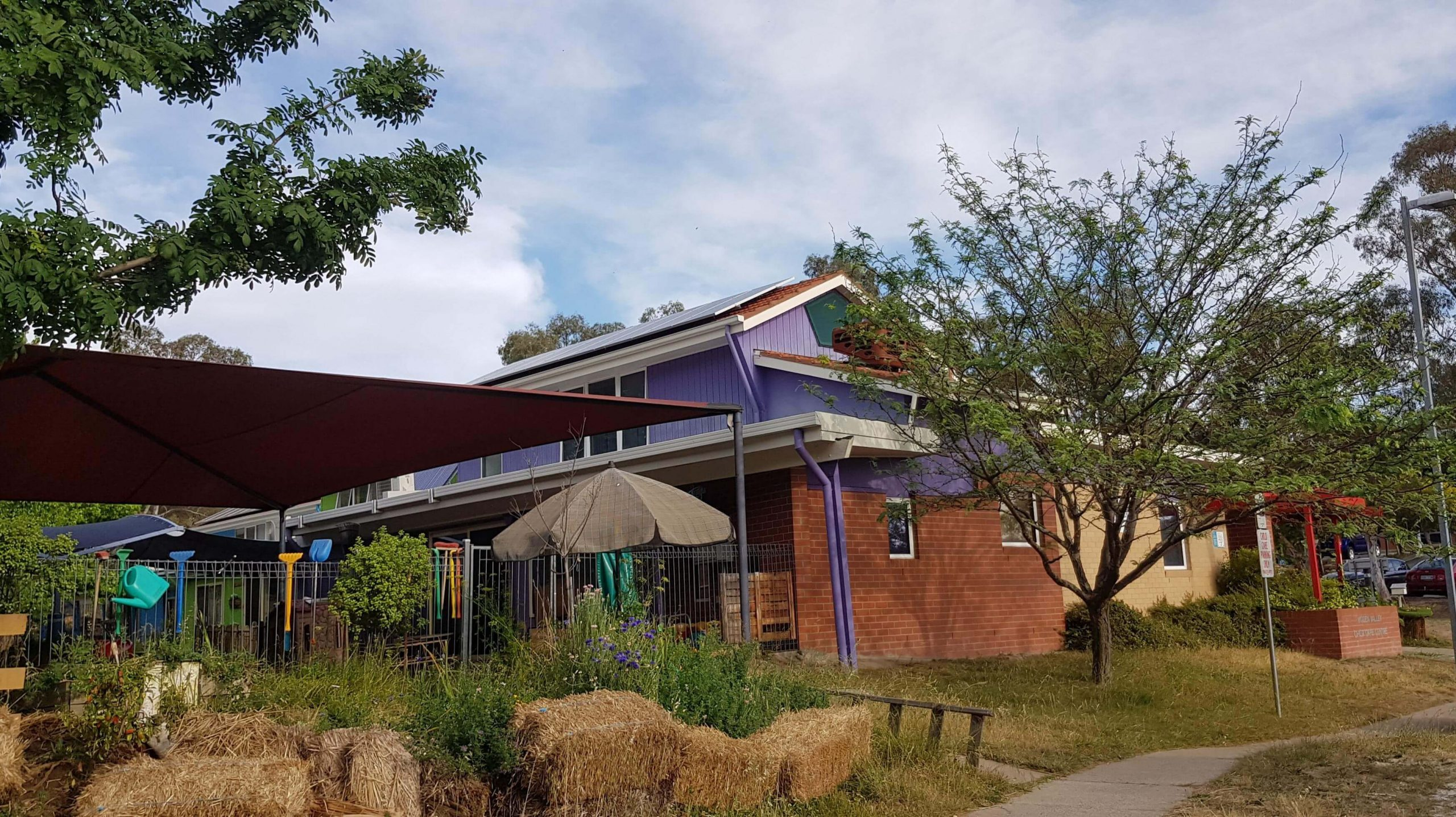 Solar on the roof of Woden Valley Child Care Centre