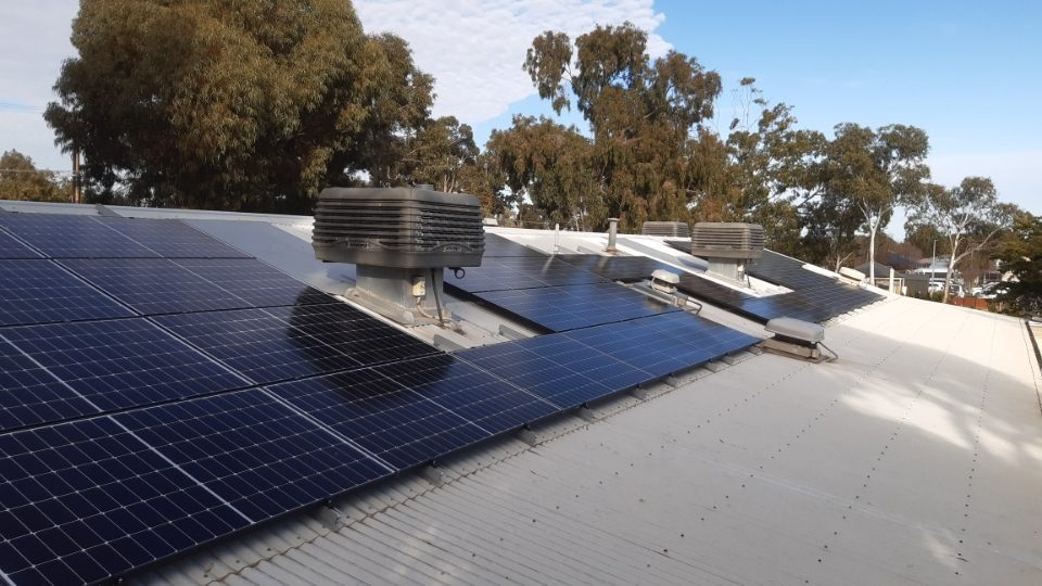 Solar installed on roof of Parkholme child care centre